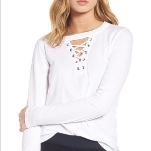 n:Philanthropy Thorn Lace Up Tee
